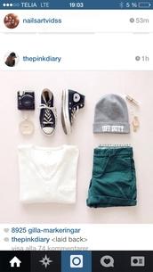 shorts,beautiful,green,white,black,cute,hot,short,shirt