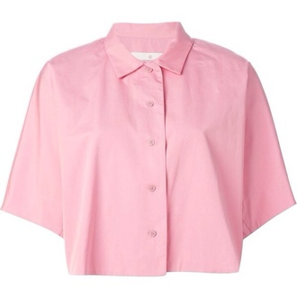 shirt tumblr cropped pink pretty indie cute collar