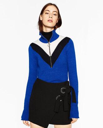 sweater chevron zip