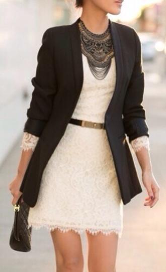 dress whitedress whitedress black blazer