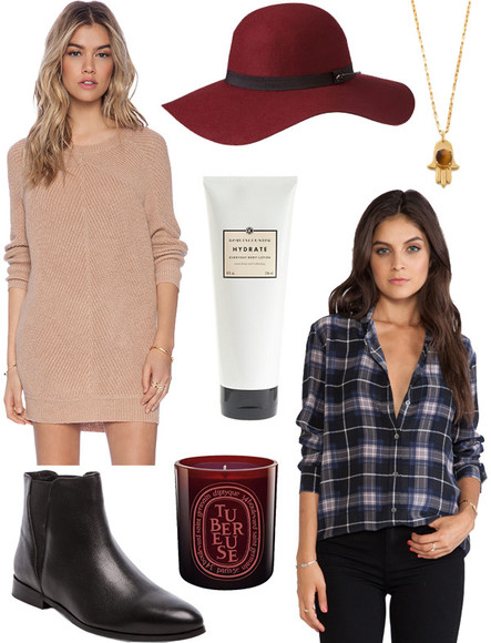 knitwear fall outfits jewels blogger with love from kat tartan felt hat jumper dress candle black boots