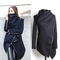 [grxjy562253]fashion solid color irregular hem woolen trench coat