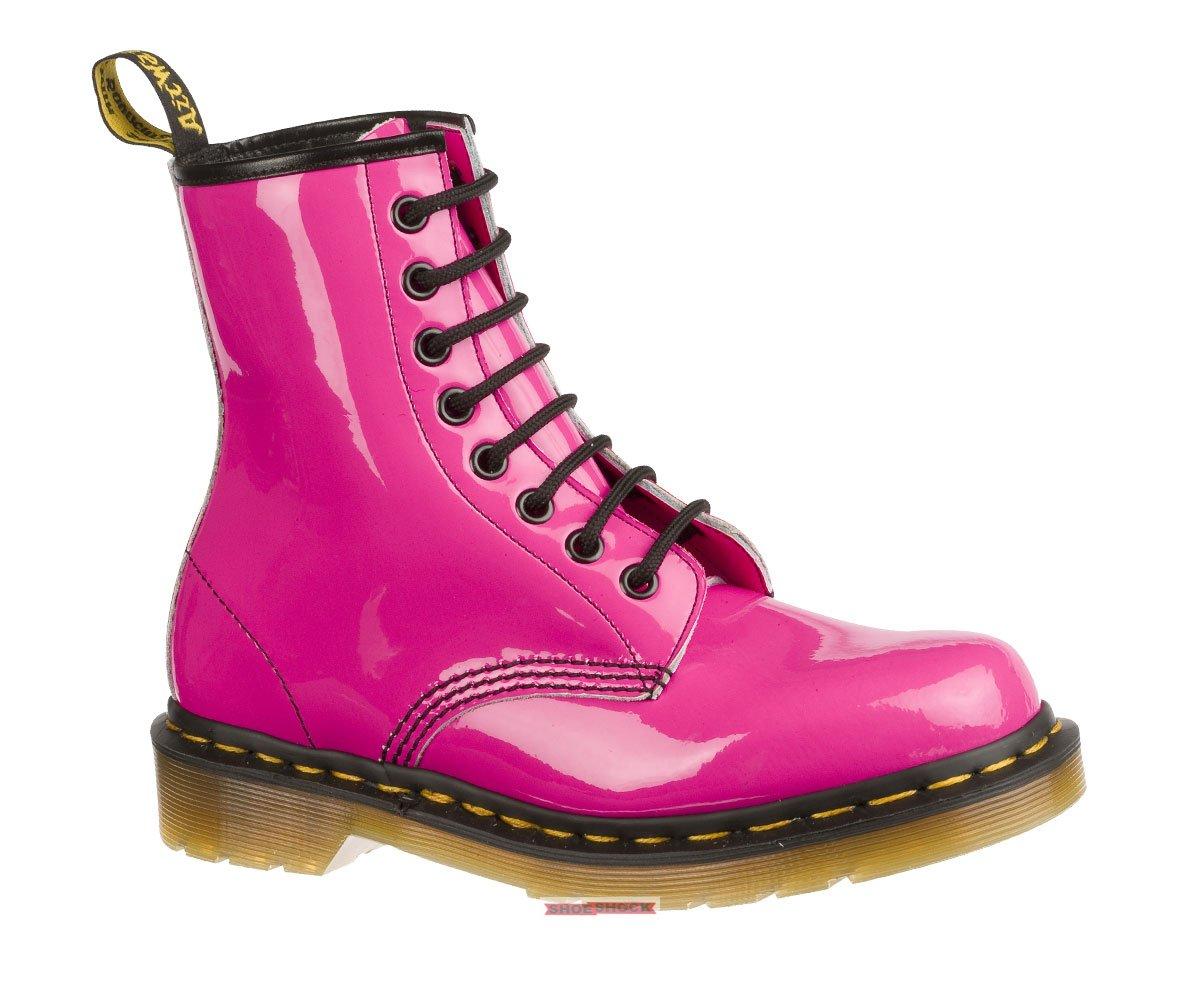 Dr. Martens 8 Eye Patent Pink - Damenstiefel in pink, 124,99 €