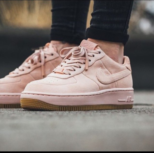 1b7fcce98cf3 shoes suede baby pink nike air force 1