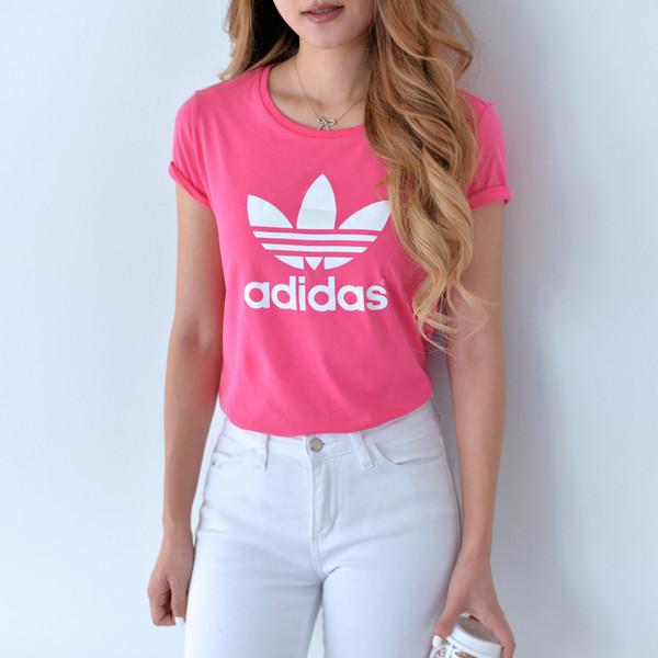 adidas t shirt Pink