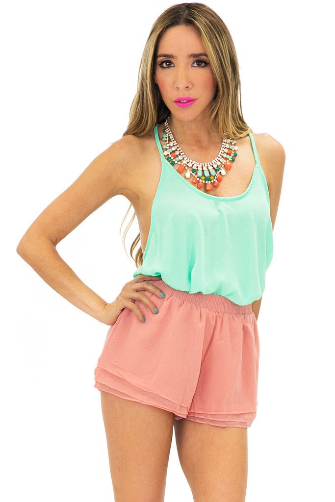 RUFFLE SHORTS - Blush | Haute & Rebellious