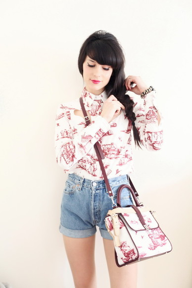 the cherry blossom girl bag jewels shirt shorts