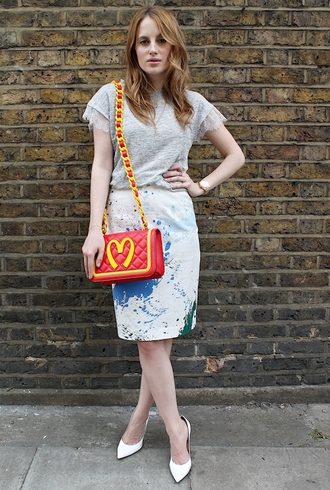 at fashion forte t-shirt skirt jewels bag shoes