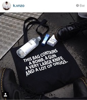 bag,black,drugs,bomb,cool,gun