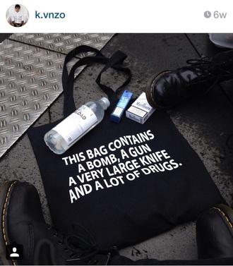 bag black drugs bomb cool gun