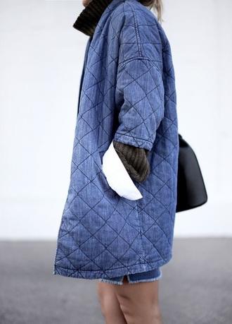 jacket nice blue cotton jacket