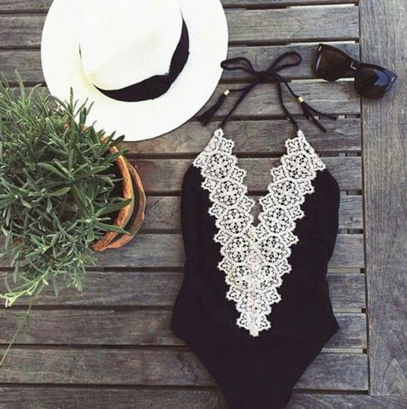 swimwear black swimwear sunglasses