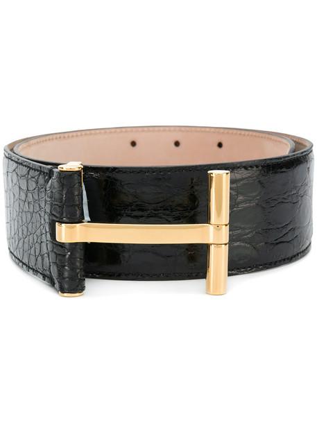 Tom Ford women belt leather black crocodile