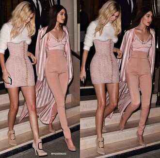 pants pink gigi hadid chic rose gold