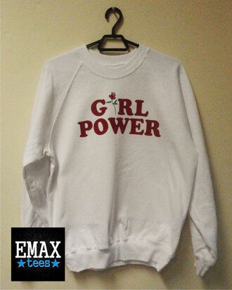 sweater sweatshirt t-shirt floral red white sexy outfit fall outfits feminist