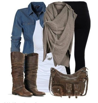 bag leather bag brown bags knee high boots brown boots leather boots scarf infinity scarf big scarf knitted scarf