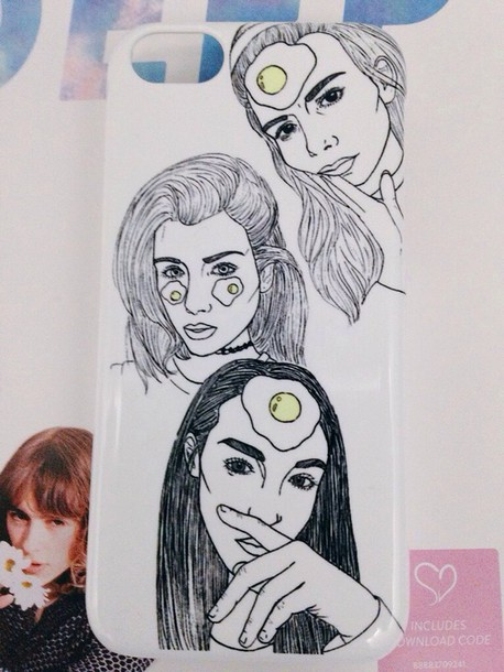 phone cover elizabeth jane bishop aesthetic cute tumblr outline black white egg indie grunge soft grunge pale soft pretty art iphone joanna kuchta charlie barker phone cover