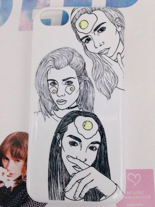 Phone Cover Elizabeth Jane Bishop Aesthetic Cute Tumblr Outline