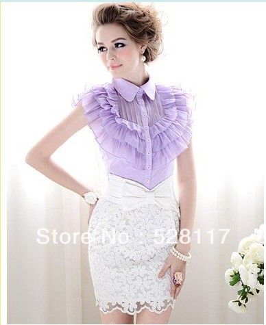 Free Shipping High Quality Charming High Waist Bowknot Decorated  Lace Skirt White-in Skirts from Apparel & Accessories on Aliexpress.com
