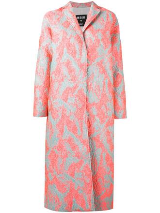 coat metallic women midi texture purple pink