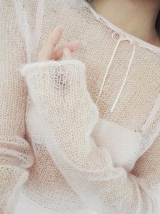 sweater nymphet pale lolita see through