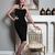 Halter Strappy Midi Bandage Dress Black