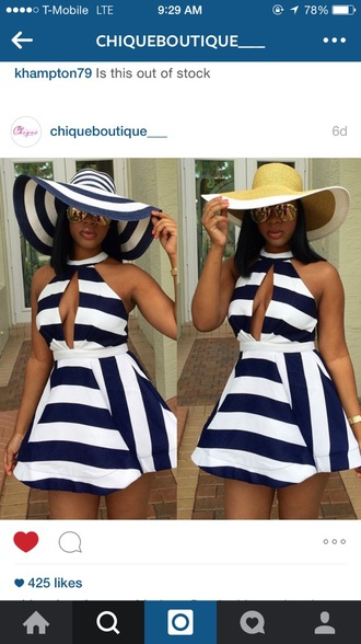 dress navy summer dress striped dress navy dress short dress