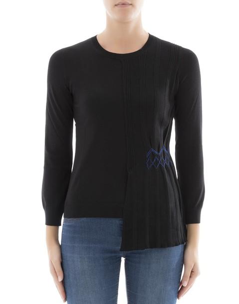 LOEWE sweatshirt black wool sweater