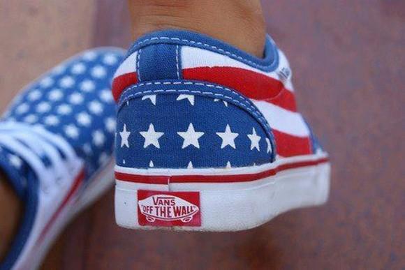 shoes vans american flag