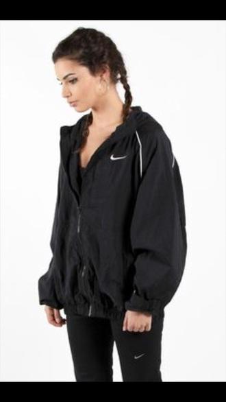 jacket nike if anyone this exact one will pay them ❤️ coat windbreaker nike jacket black jacket