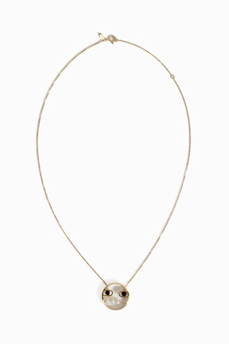 women pearl necklace gold jewels