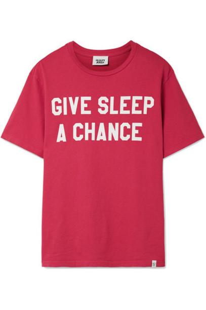 Sleepy Jones t-shirt shirt cotton t-shirt t-shirt cotton red top