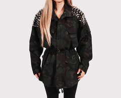 RWDZ Dark Aussie Army Studded Coat | RUNWAYDREAMZ