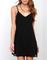 Black spaghetti strap shift dress