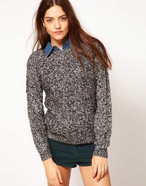 Vero moda salt & pepper chunky textured knit sweater at asos