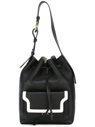 duffle bag bag leather black