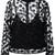 House Of Holland semi sheer polka dot blouse, Women's, Size: 12, Black, Polyester/Acetate