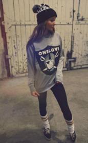 sweater,oakland raiders,football shirts,football jersey,nfl,nfl women jerseys,raiders,one love,hat,bonnet pompons