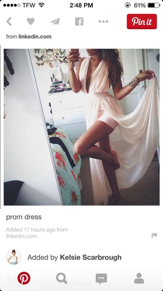 dress fashion style cute dress prom dress formal event outfit pink dress prom gown hot slit dress slit skirt love pinterest