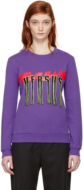 Versus sweatshirt purple sweater
