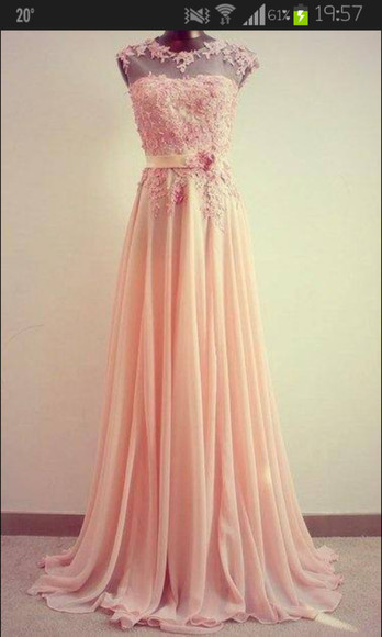 dress pale pink illusion neckline flower lace dress 3d, floral, flowers, purple, dress, beautiful, pink pink prom prom dress floral maxi maxi dress