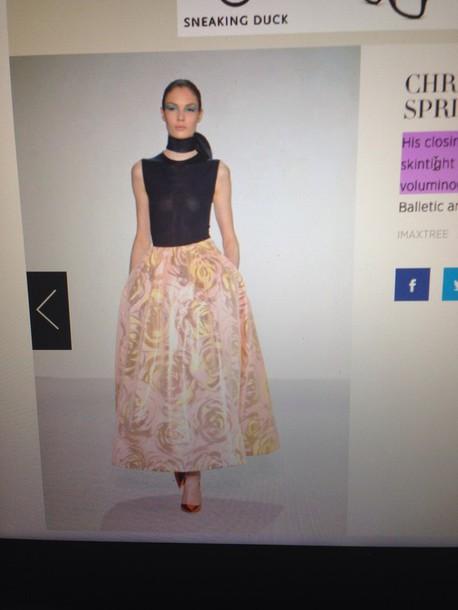 skirt christian dior spring voluminous skirt