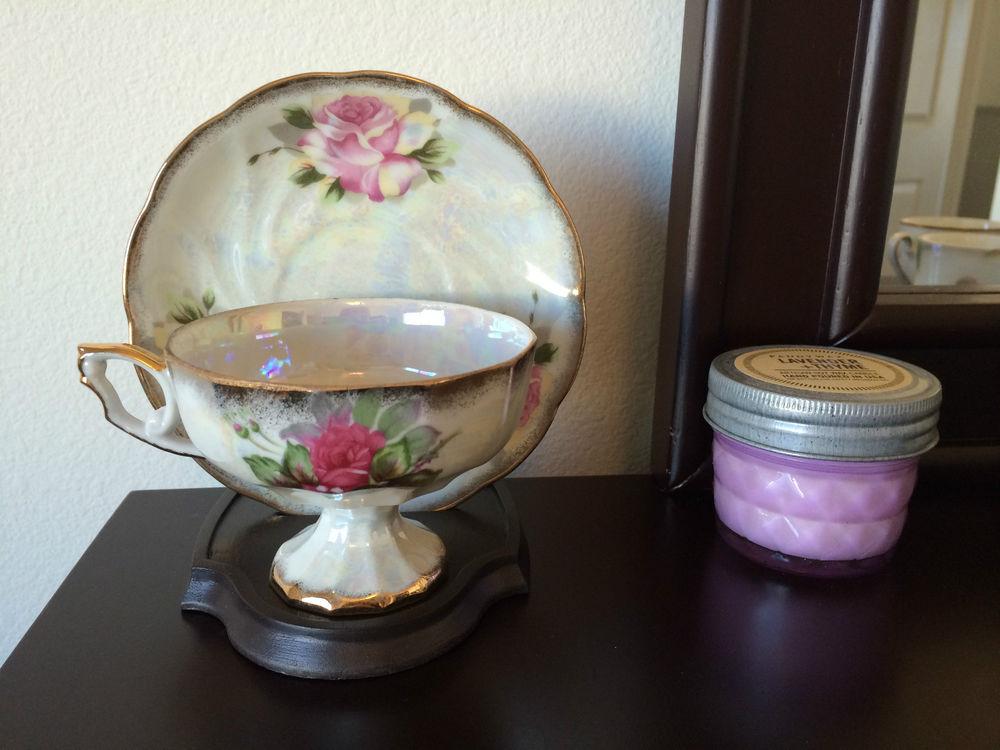 Vintage celebrate japan rare porcelain rose flower gold trim tea cup, saucer