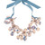 Cloudy Sky Crystal Lily Necklace