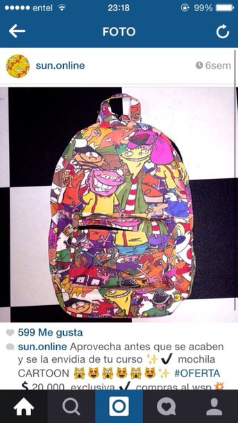 bag nickelodeon 90's fashion