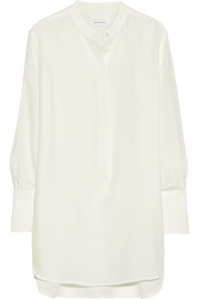 Equipment | Ian washed-silk tunic shirt | NET-A-PORTER.COM