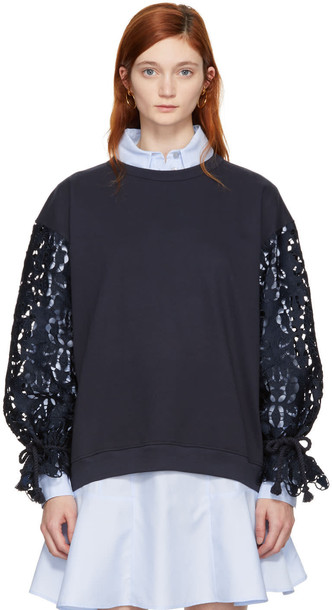 See by Chloe sweatshirt navy sweater
