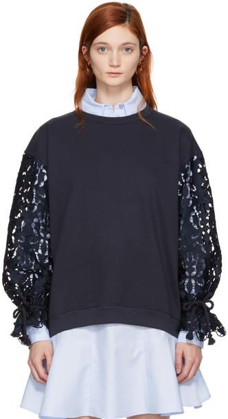See by Chloe sweatshirt navy sweater