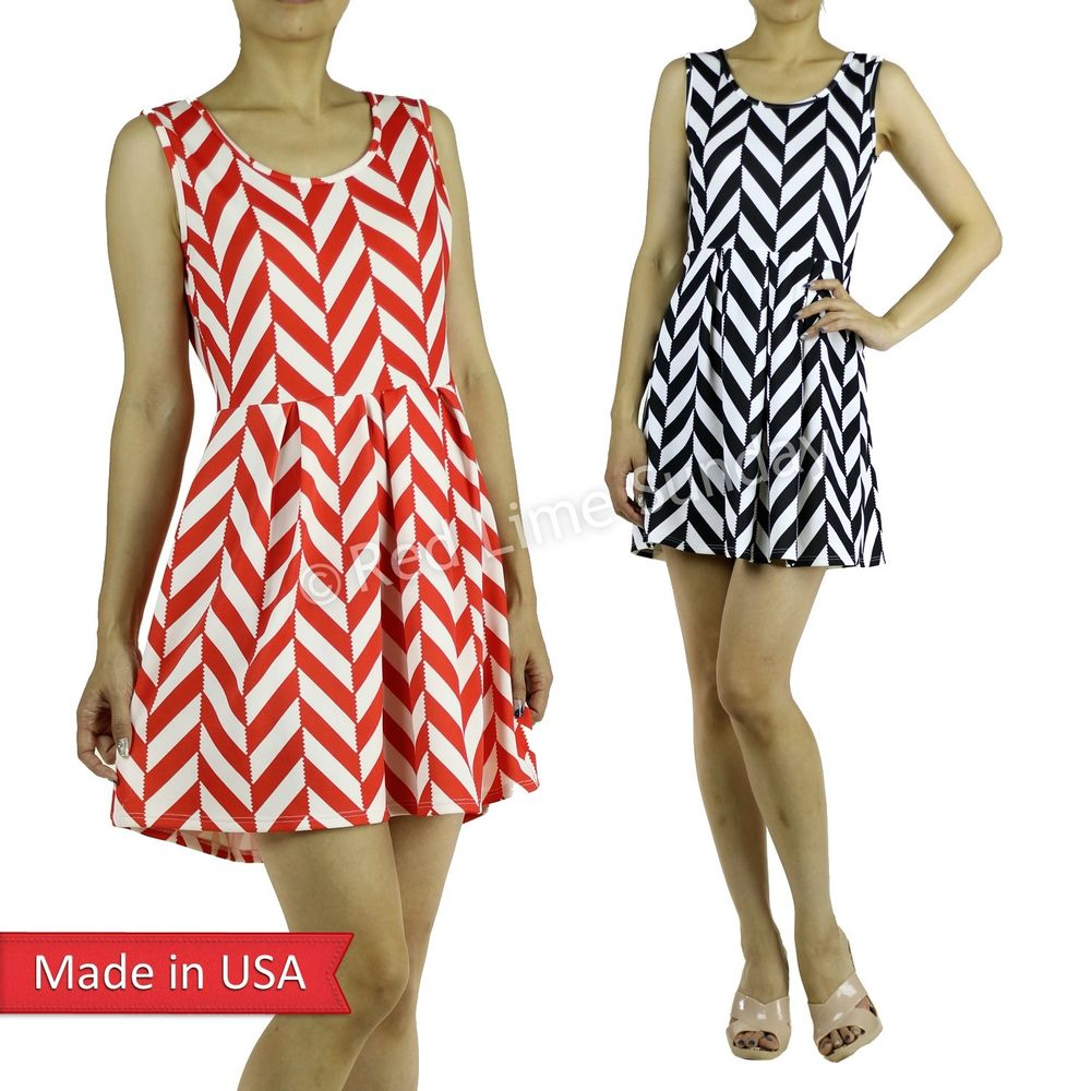 Pattern Mini Dresses