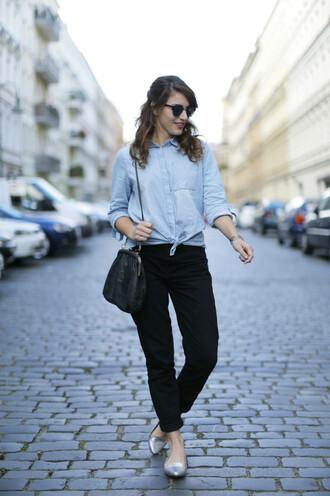samieze blogger jeans shirt bag shoes